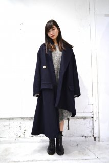 BELPER asymmetry melton coat<img class='new_mark_img2' src='//img.shop-pro.jp/img/new/icons15.gif' style='border:none;display:inline;margin:0px;padding:0px;width:auto;' />