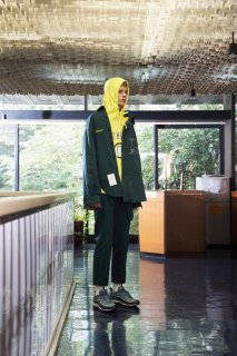 SYU.HOMME/FEMM Skater pants With Bag Type slim(Green)