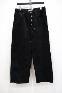 SUGARHILL  Double knee Corduroy pants(BLK)