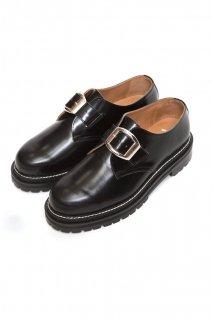 soe  One Buckle Plain Toe Shoes(BLK)