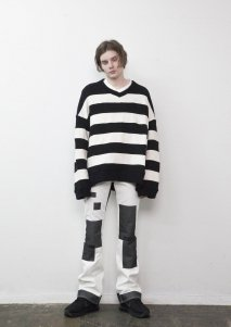 【20%OFF】[ー]Minus  BORDER KNIT(BLK)<img class='new_mark_img2' src='https://img.shop-pro.jp/img/new/icons20.gif' style='border:none;display:inline;margin:0px;padding:0px;width:auto;' />