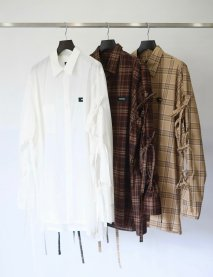 SYU.HOMME/FEMM  NU Super arm Shirts type Slim(Camel or Brown)<img class='new_mark_img2' src='https://img.shop-pro.jp/img/new/icons15.gif' style='border:none;display:inline;margin:0px;padding:0px;width:auto;' />