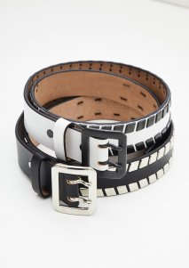 LITTLEBIG  Studed Leather Belt(WHT or BLK)<img class='new_mark_img2' src='https://img.shop-pro.jp/img/new/icons15.gif' style='border:none;display:inline;margin:0px;padding:0px;width:auto;' />
