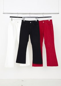 LITTLEBIG  Flare Denim(WHITE or RED)<img class='new_mark_img2' src='https://img.shop-pro.jp/img/new/icons15.gif' style='border:none;display:inline;margin:0px;padding:0px;width:auto;' />