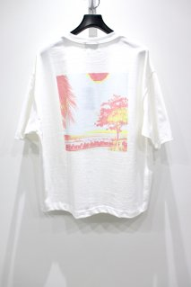 【20%OFF】KIIT  COTTON STRONG TWIST YARN PRINT TEE-2(WHT)<img class='new_mark_img2' src='https://img.shop-pro.jp/img/new/icons20.gif' style='border:none;display:inline;margin:0px;padding:0px;width:auto;' />