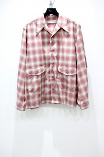 SUGARHILL  OMBRE OPENCOLLARED SHIRT(RED)<img class='new_mark_img2' src='https://img.shop-pro.jp/img/new/icons15.gif' style='border:none;display:inline;margin:0px;padding:0px;width:auto;' />