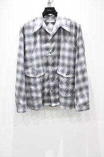 SUGARHILL  OMBRE OPENCOLLARED SHIRT(BLACK)<img class='new_mark_img2' src='https://img.shop-pro.jp/img/new/icons15.gif' style='border:none;display:inline;margin:0px;padding:0px;width:auto;' />