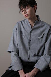 KONYA  Mercer Stripe Shirt(GRAY)<img class='new_mark_img2' src='https://img.shop-pro.jp/img/new/icons15.gif' style='border:none;display:inline;margin:0px;padding:0px;width:auto;' />