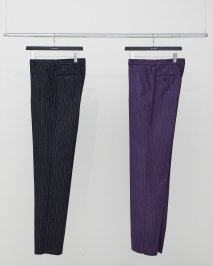 LITTLEBIG  Chalk Stripe Tucked Trousers(BLACK or PURPLE)<img class='new_mark_img2' src='https://img.shop-pro.jp/img/new/icons15.gif' style='border:none;display:inline;margin:0px;padding:0px;width:auto;' />