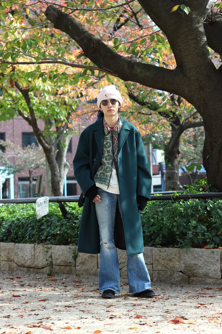 【20%OFF】soe  Belted Wool Coat(GREEN)<img class='new_mark_img2' src='https://img.shop-pro.jp/img/new/icons20.gif' style='border:none;display:inline;margin:0px;padding:0px;width:auto;' />