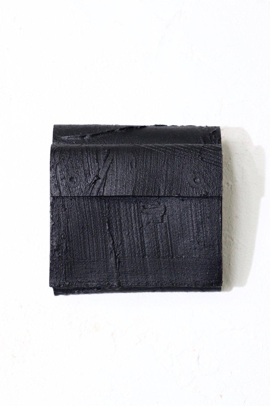 KAGARI YUSUKE  黒壁 三つ折り財布 ※3月入荷予定予約品