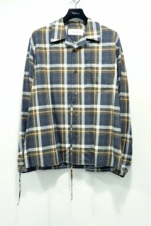 JOHN MASON SMITH  OPEN COLLAR SHIRTS(BROWN CHECK)<img class='new_mark_img2' src='https://img.shop-pro.jp/img/new/icons15.gif' style='border:none;display:inline;margin:0px;padding:0px;width:auto;' />