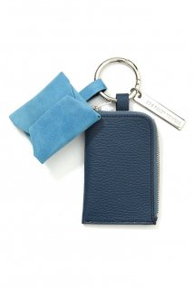 soe  Leather Key Ring(NAVY / SAX)<img class='new_mark_img2' src='https://img.shop-pro.jp/img/new/icons15.gif' style='border:none;display:inline;margin:0px;padding:0px;width:auto;' />