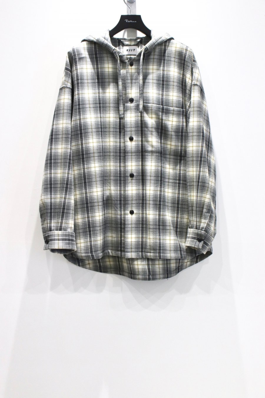 KIIT  PURE WOOL CHECK HOODIE<img class='new_mark_img2' src='https://img.shop-pro.jp/img/new/icons15.gif' style='border:none;display:inline;margin:0px;padding:0px;width:auto;' />