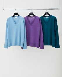 LITTLEBIG  V Neck Over Knit(SAXE)<img class='new_mark_img2' src='https://img.shop-pro.jp/img/new/icons15.gif' style='border:none;display:inline;margin:0px;padding:0px;width:auto;' />