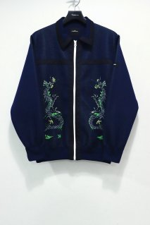 SYU.HOMME/FEMM  Dragon knit shirts(NAVY)<img class='new_mark_img2' src='https://img.shop-pro.jp/img/new/icons15.gif' style='border:none;display:inline;margin:0px;padding:0px;width:auto;' />
