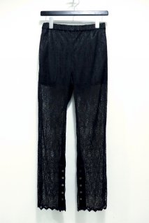 BELPER  WAVE PLEATED LACE STRAIGHT PANTS(BLACK)<img class='new_mark_img2' src='https://img.shop-pro.jp/img/new/icons15.gif' style='border:none;display:inline;margin:0px;padding:0px;width:auto;' />
