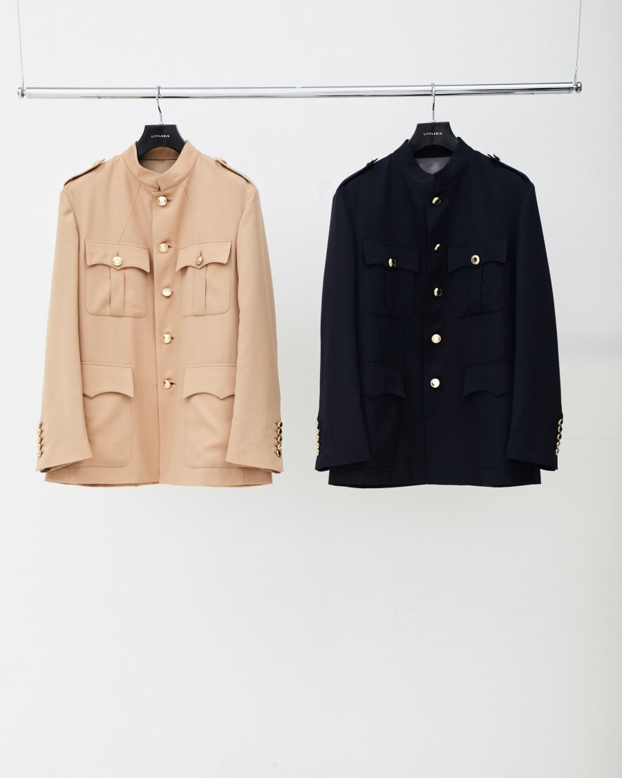 LITTLEBIG  Stand Collar Safari Jacket(BEIGE or NAVY)<img class='new_mark_img2' src='https://img.shop-pro.jp/img/new/icons15.gif' style='border:none;display:inline;margin:0px;padding:0px;width:auto;' />