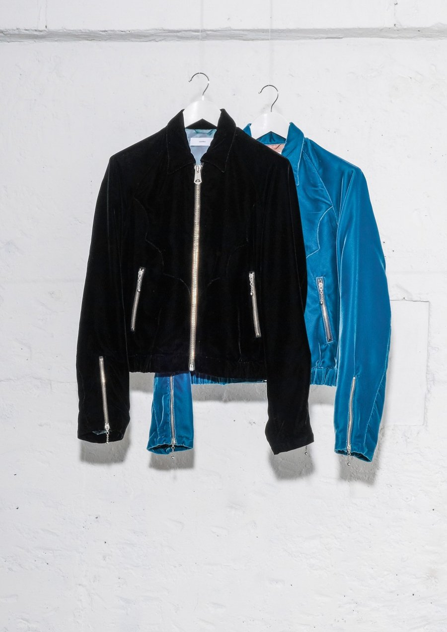 SUGARHILL  VELVET WESTERN JACKET(BLACK or BLUE)<img class='new_mark_img2' src='https://img.shop-pro.jp/img/new/icons15.gif' style='border:none;display:inline;margin:0px;padding:0px;width:auto;' />