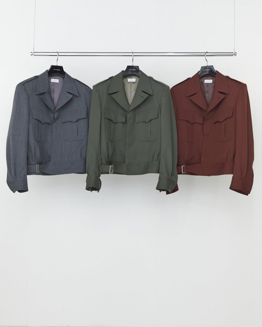 LITTLEBIG  Twill Eisenhower Jacket(GREEN or BROWN)<img class='new_mark_img2' src='https://img.shop-pro.jp/img/new/icons15.gif' style='border:none;display:inline;margin:0px;padding:0px;width:auto;' />