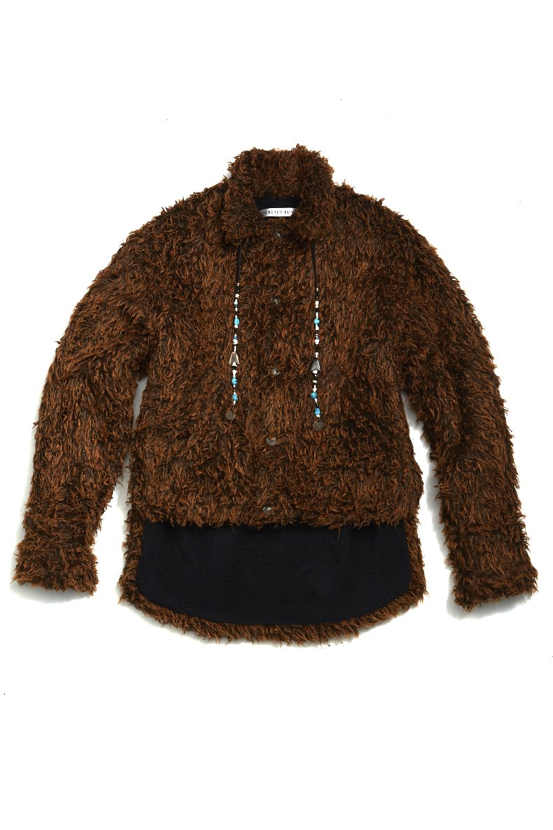 soe  Bear Jacket with Natural Stone(BROWN)<img class='new_mark_img2' src='https://img.shop-pro.jp/img/new/icons15.gif' style='border:none;display:inline;margin:0px;padding:0px;width:auto;' />