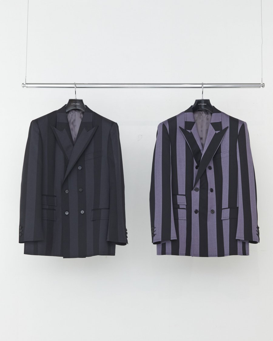 LITTLEBIG  Stripe 6B Double Breasted Jacket( Purple Stripe )<img class='new_mark_img2' src='https://img.shop-pro.jp/img/new/icons15.gif' style='border:none;display:inline;margin:0px;padding:0px;width:auto;' />
