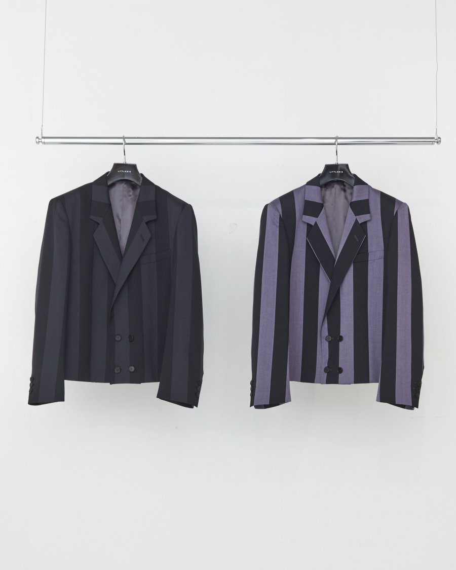 LITTLEBIG  Stripe Short Jacket( Purple Stripe )<img class='new_mark_img2' src='https://img.shop-pro.jp/img/new/icons15.gif' style='border:none;display:inline;margin:0px;padding:0px;width:auto;' />