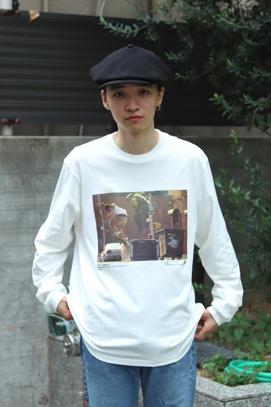 JOHN MASON SMITH × MIKE O'MEALLY L/S T-SHIRT (CHRIS KEEFFE)<img class='new_mark_img2' src='https://img.shop-pro.jp/img/new/icons15.gif' style='border:none;display:inline;margin:0px;padding:0px;width:auto;' />