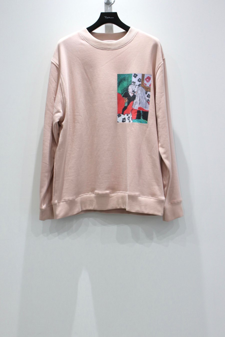 VICTORIA  TWO LADIES CREWNECK(PEACH)<img class='new_mark_img2' src='https://img.shop-pro.jp/img/new/icons15.gif' style='border:none;display:inline;margin:0px;padding:0px;width:auto;' />