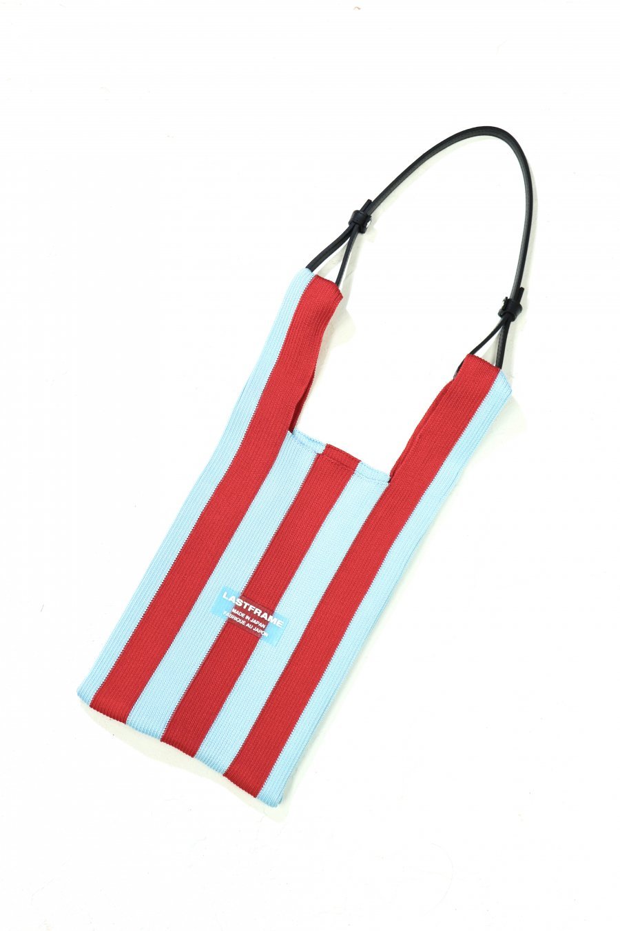 LASTFRAME  STRIPE MARKET BAG(RED x AQUA)<img class='new_mark_img2' src='https://img.shop-pro.jp/img/new/icons15.gif' style='border:none;display:inline;margin:0px;padding:0px;width:auto;' />