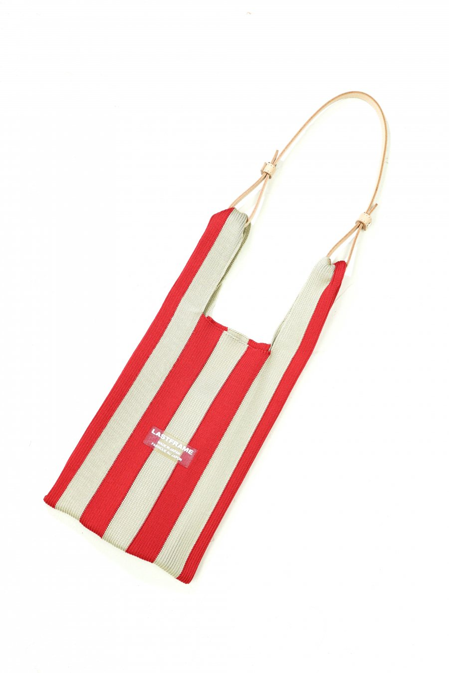 LASTFRAME  STRIPE MARKET BAG(RED x BEIGE)<img class='new_mark_img2' src='https://img.shop-pro.jp/img/new/icons15.gif' style='border:none;display:inline;margin:0px;padding:0px;width:auto;' />