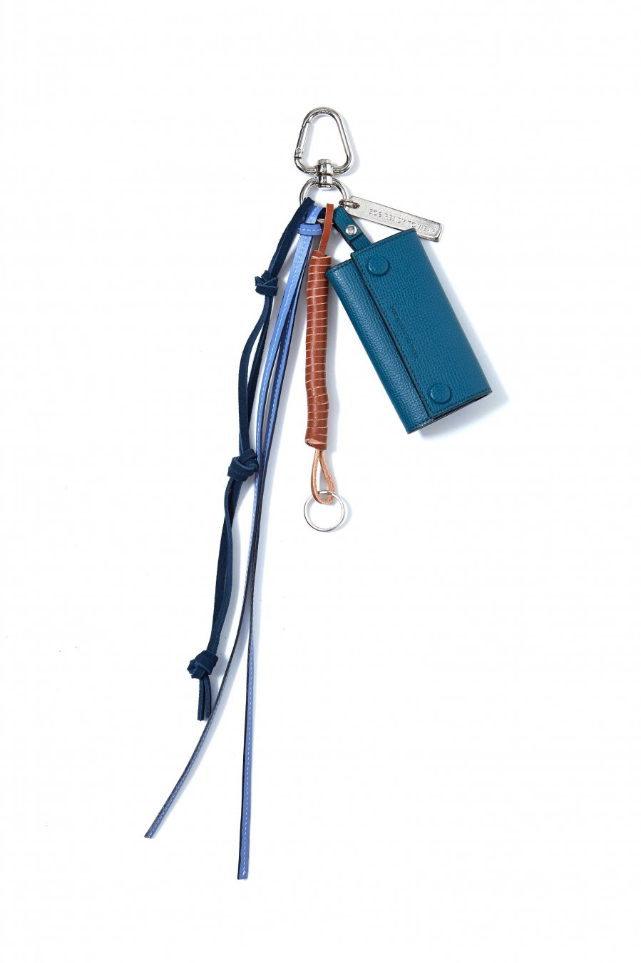 soe  Key Ring With Leather Strap(BLUE)<img class='new_mark_img2' src='https://img.shop-pro.jp/img/new/icons15.gif' style='border:none;display:inline;margin:0px;padding:0px;width:auto;' />