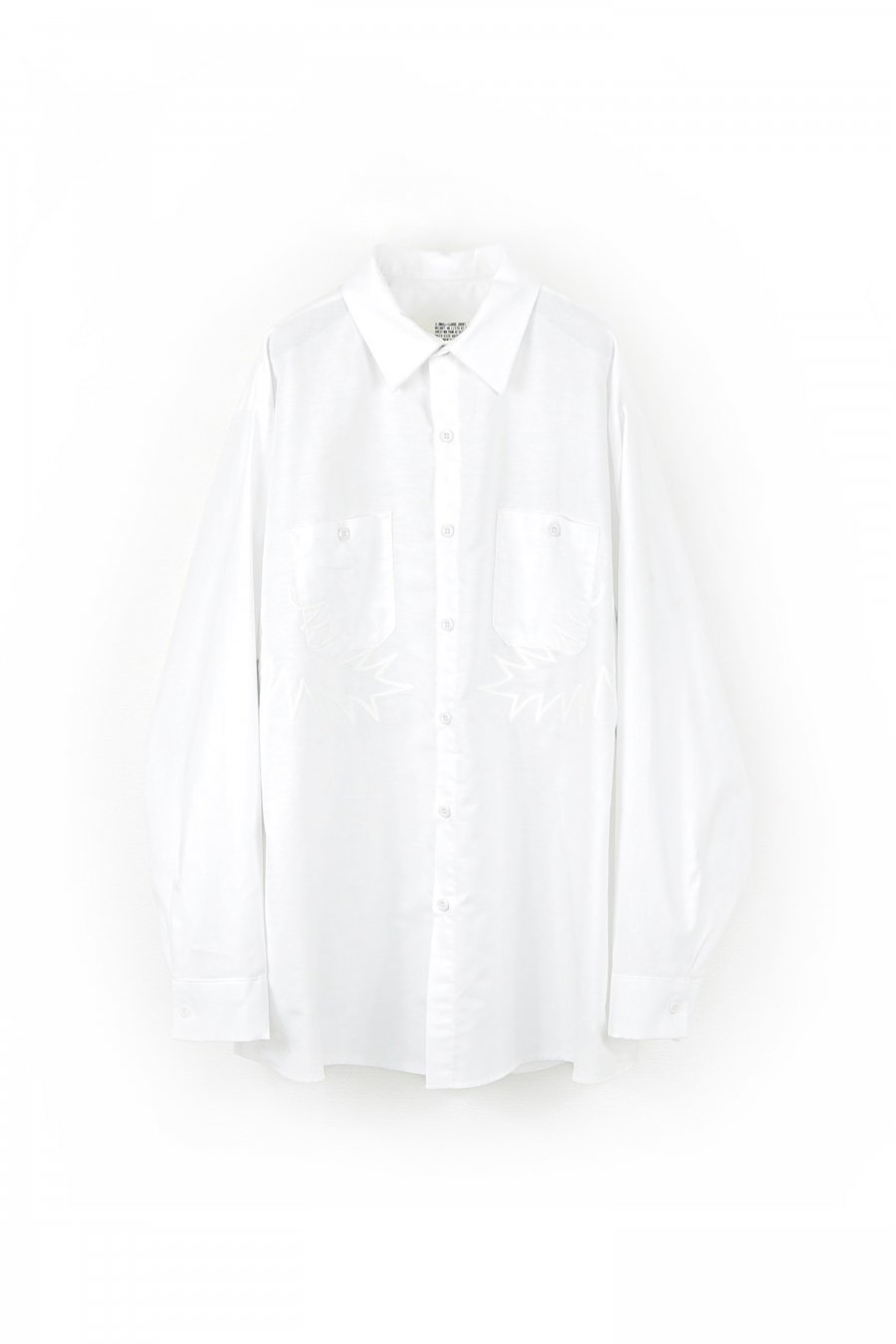 elephant TRIBAL fabrics  Palm leaf embroidery work shirt(WHITE)<img class='new_mark_img2' src='https://img.shop-pro.jp/img/new/icons15.gif' style='border:none;display:inline;margin:0px;padding:0px;width:auto;' />