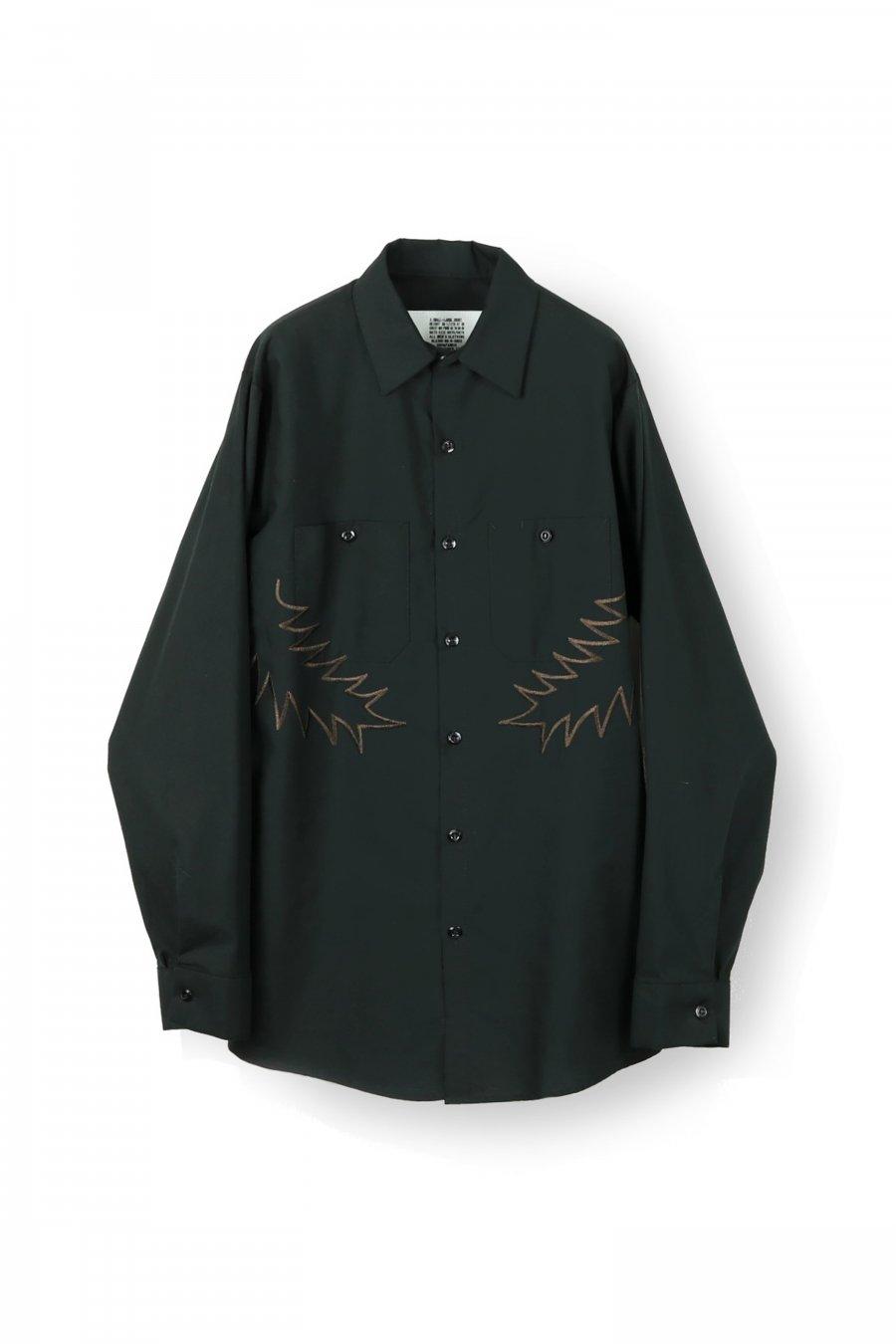 elephant TRIBAL fabrics  Palm leaf embroidery work shirt(BLACK)<img class='new_mark_img2' src='https://img.shop-pro.jp/img/new/icons15.gif' style='border:none;display:inline;margin:0px;padding:0px;width:auto;' />