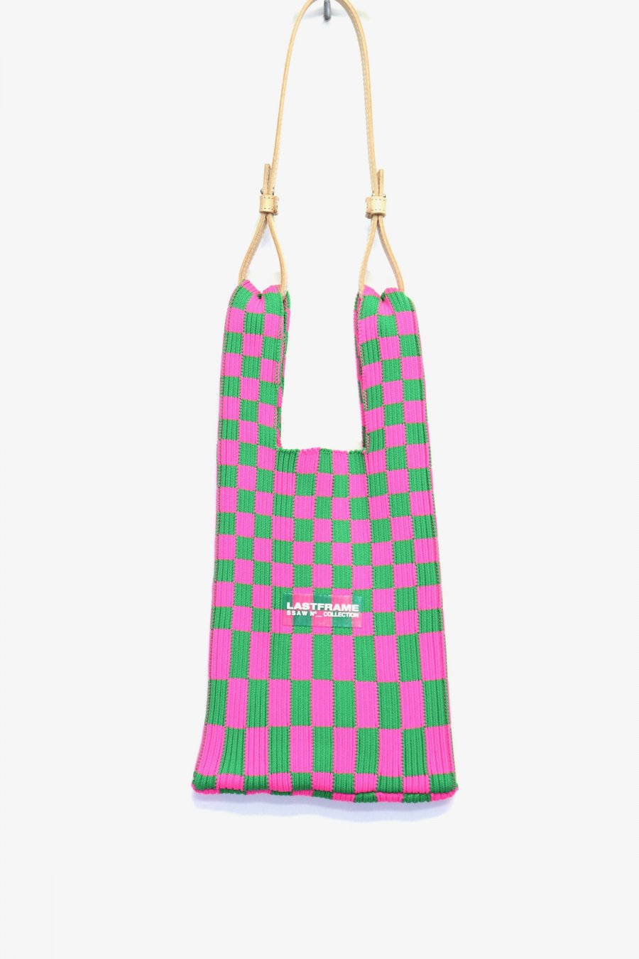 LASTFRAME  ICHIMATSU MARKET BAG SMALL(NEON PINK x GREEN)<img class='new_mark_img2' src='https://img.shop-pro.jp/img/new/icons15.gif' style='border:none;display:inline;margin:0px;padding:0px;width:auto;' />