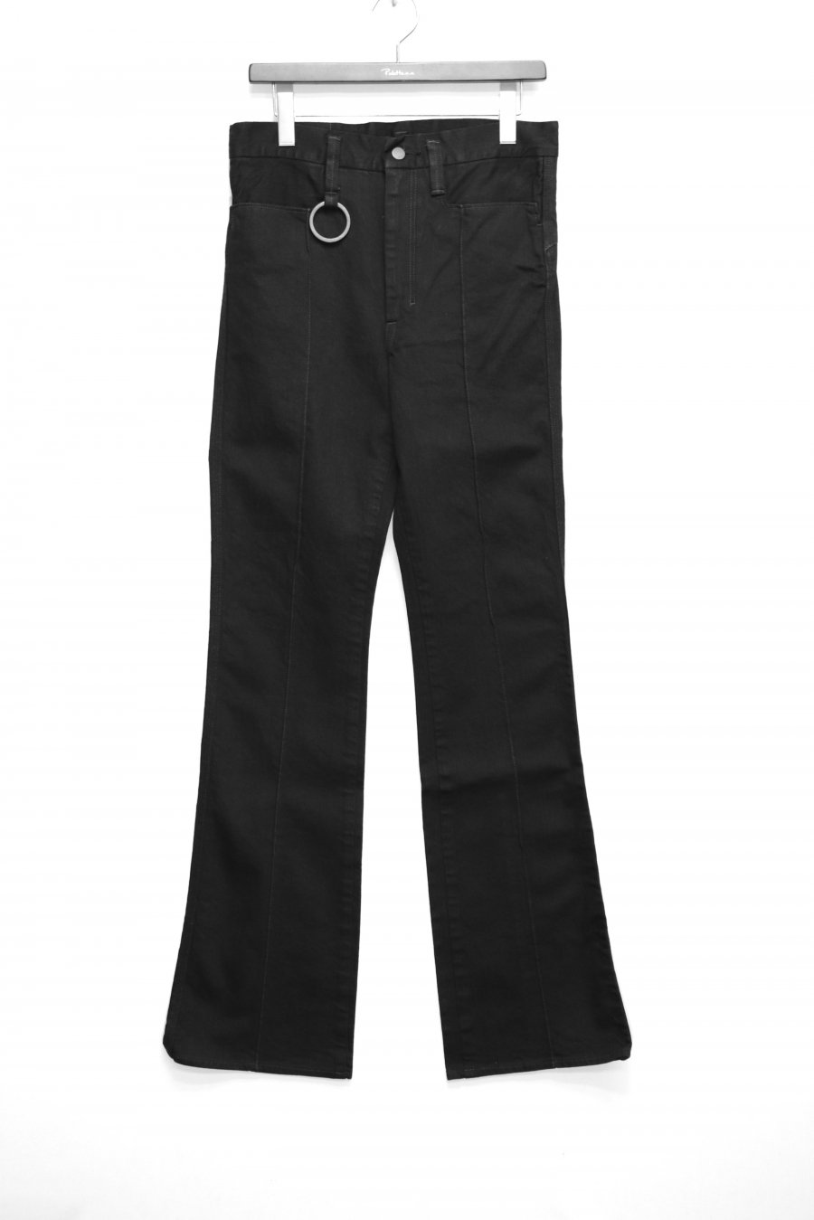 [ー]MINUS SIGUNATURE DENIM TROUSERS(FADED BLACK FLARE)<img class='new_mark_img2' src='https://img.shop-pro.jp/img/new/icons15.gif' style='border:none;display:inline;margin:0px;padding:0px;width:auto;' />