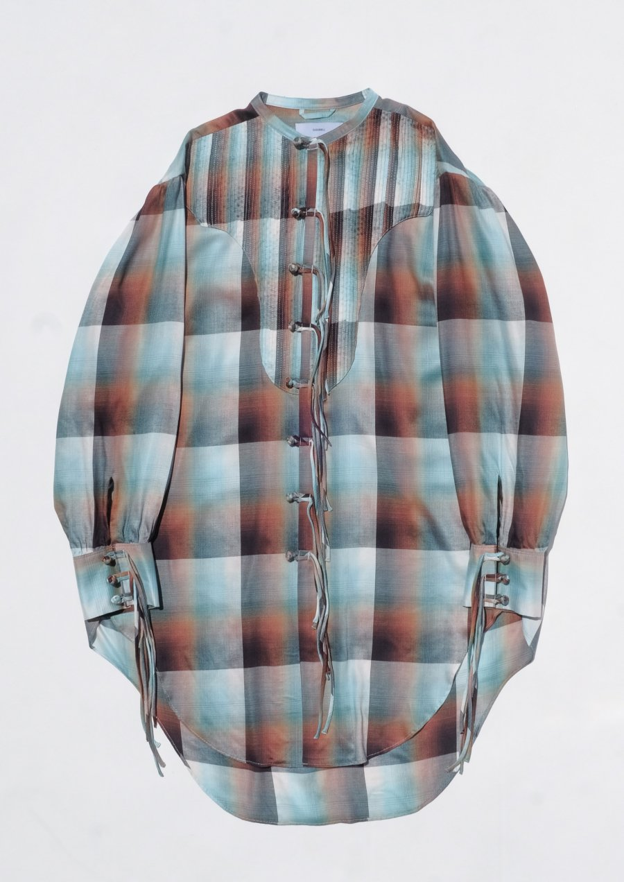 SUGARHILL  Ombre Panama Long Shirt<img class='new_mark_img2' src='https://img.shop-pro.jp/img/new/icons15.gif' style='border:none;display:inline;margin:0px;padding:0px;width:auto;' />