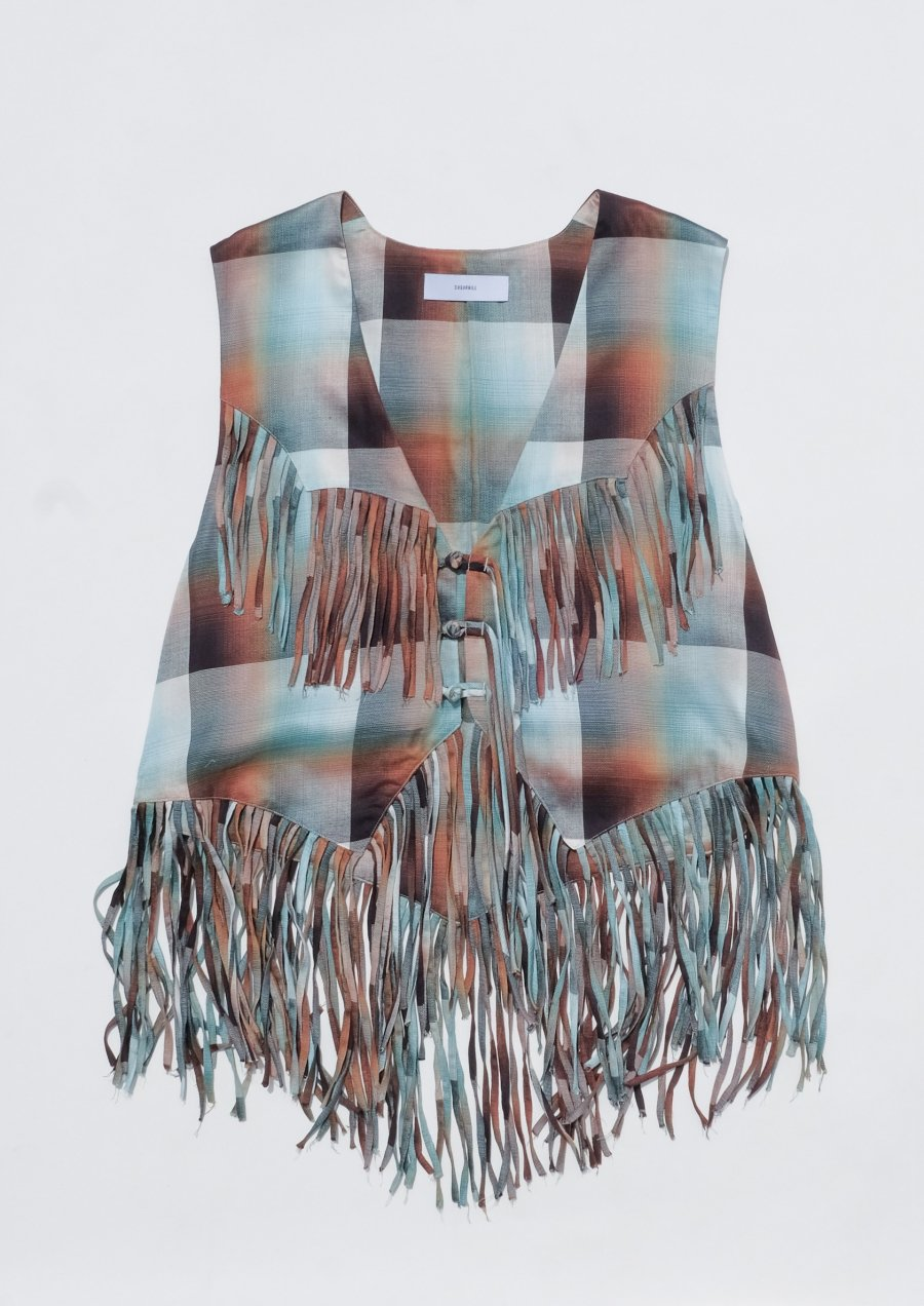 SUGARHILL  Ombre Panama Fringe Vest<img class='new_mark_img2' src='https://img.shop-pro.jp/img/new/icons15.gif' style='border:none;display:inline;margin:0px;padding:0px;width:auto;' />
