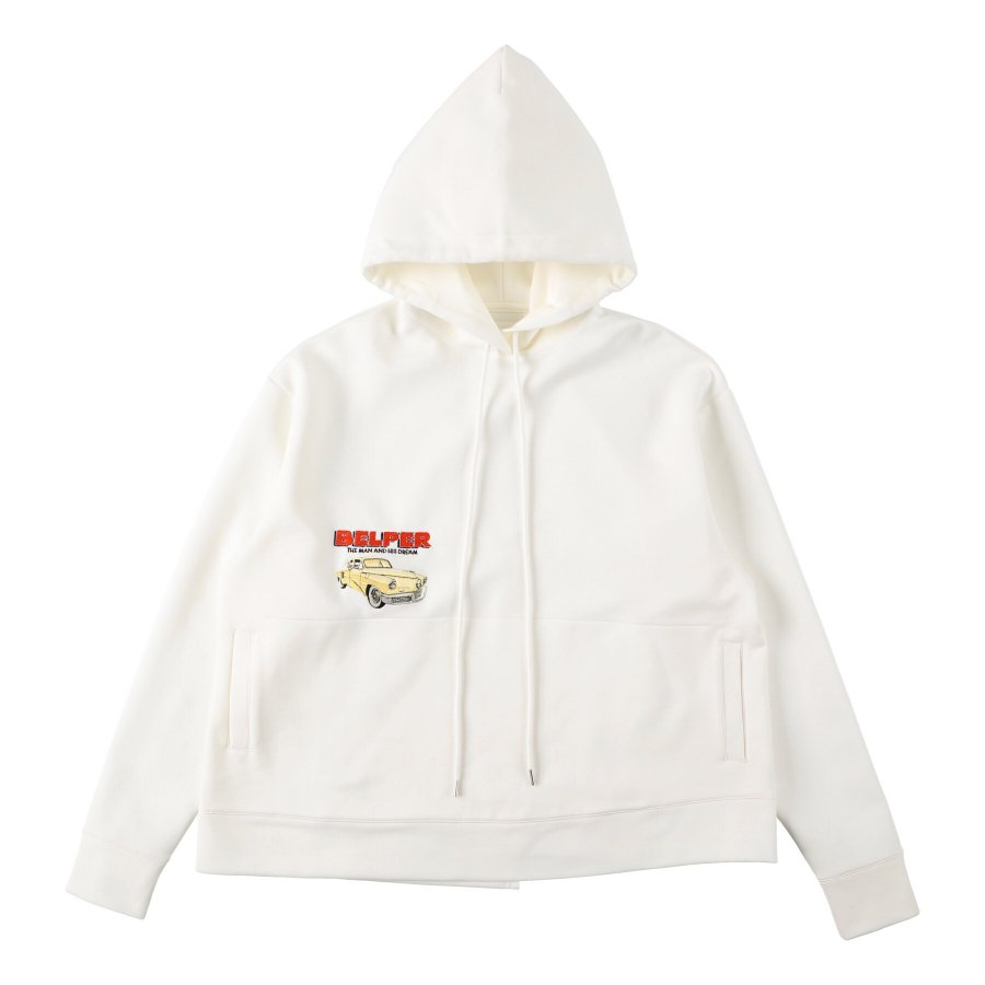 【21AW先行予約】BELPER  EMBROIDERY PARKA(WHITE)※7月入荷予定予約品(4月23日 23:59 締め切り)<img class='new_mark_img2' src='https://img.shop-pro.jp/img/new/icons15.gif' style='border:none;display:inline;margin:0px;padding:0px;width:auto;' />