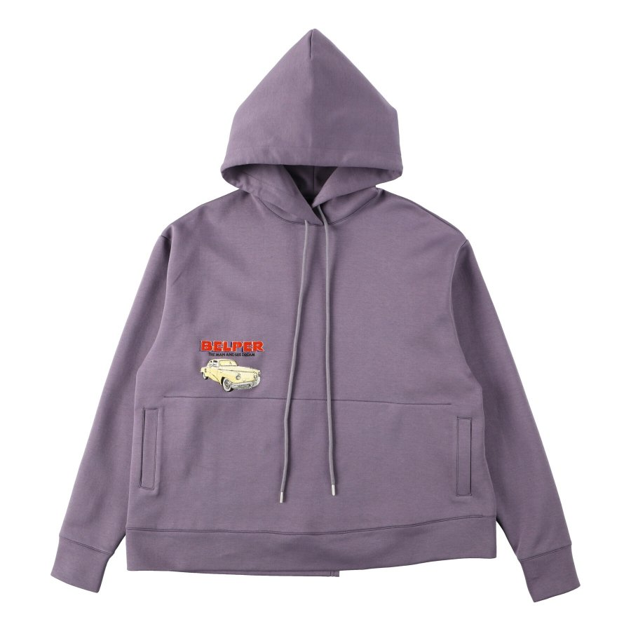 【21AW先行予約】BELPER  EMBROIDERY PARKA(PURPLE)※7月入荷予定予約品(4月23日 23:59 締め切り)<img class='new_mark_img2' src='https://img.shop-pro.jp/img/new/icons15.gif' style='border:none;display:inline;margin:0px;padding:0px;width:auto;' />