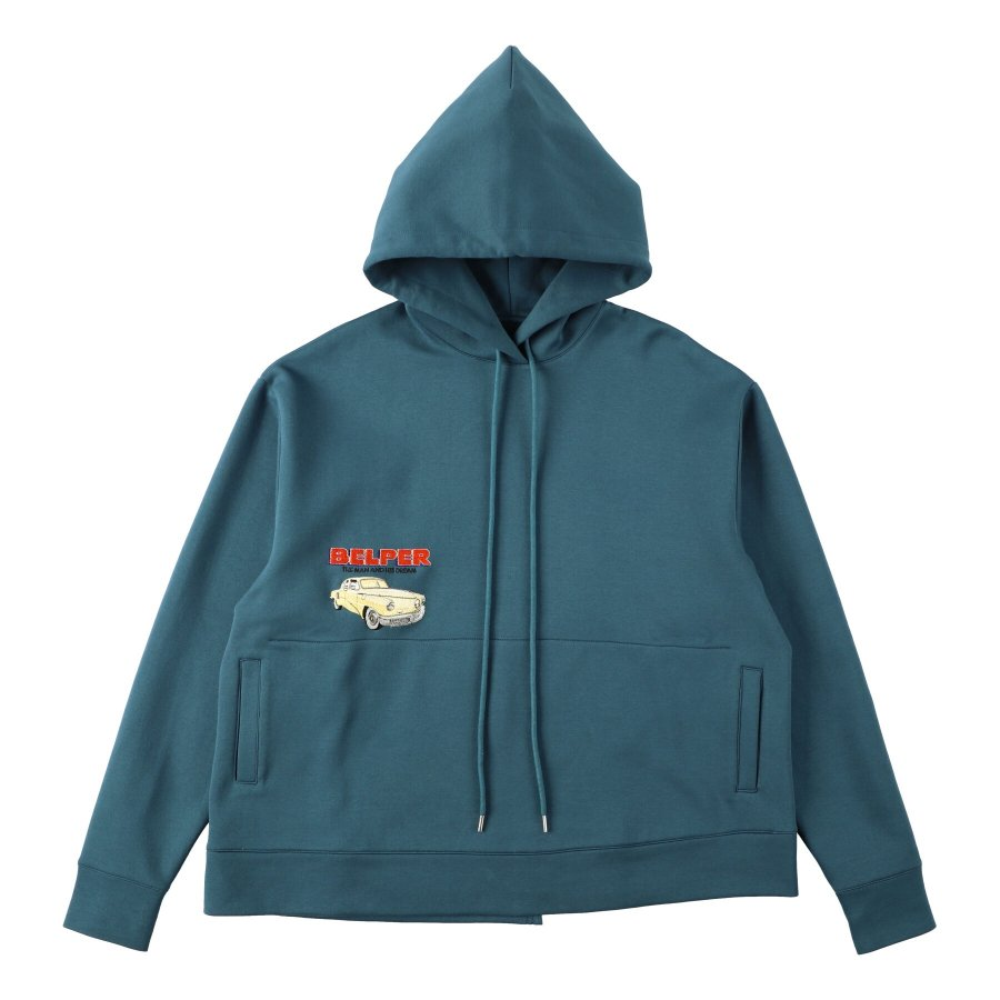 【21AW先行予約】BELPER  EMBROIDERY PARKA(GREEN)※7月入荷予定予約品(4月23日 23:59 締め切り)<img class='new_mark_img2' src='https://img.shop-pro.jp/img/new/icons15.gif' style='border:none;display:inline;margin:0px;padding:0px;width:auto;' />