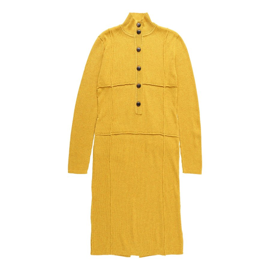 【21AW先行予約】BELPER  KNIT DRESS(YELLOW)※7月入荷予定予約品(4月23日 23:59 締め切り)<img class='new_mark_img2' src='https://img.shop-pro.jp/img/new/icons15.gif' style='border:none;display:inline;margin:0px;padding:0px;width:auto;' />
