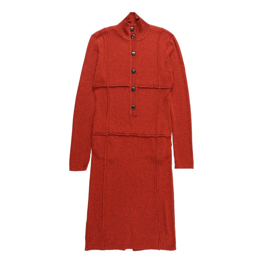【21AW先行予約】BELPER  KNIT DRESS(BRICK RED)※7月入荷予定予約品(4月23日 23:59 締め切り)<img class='new_mark_img2' src='https://img.shop-pro.jp/img/new/icons15.gif' style='border:none;display:inline;margin:0px;padding:0px;width:auto;' />