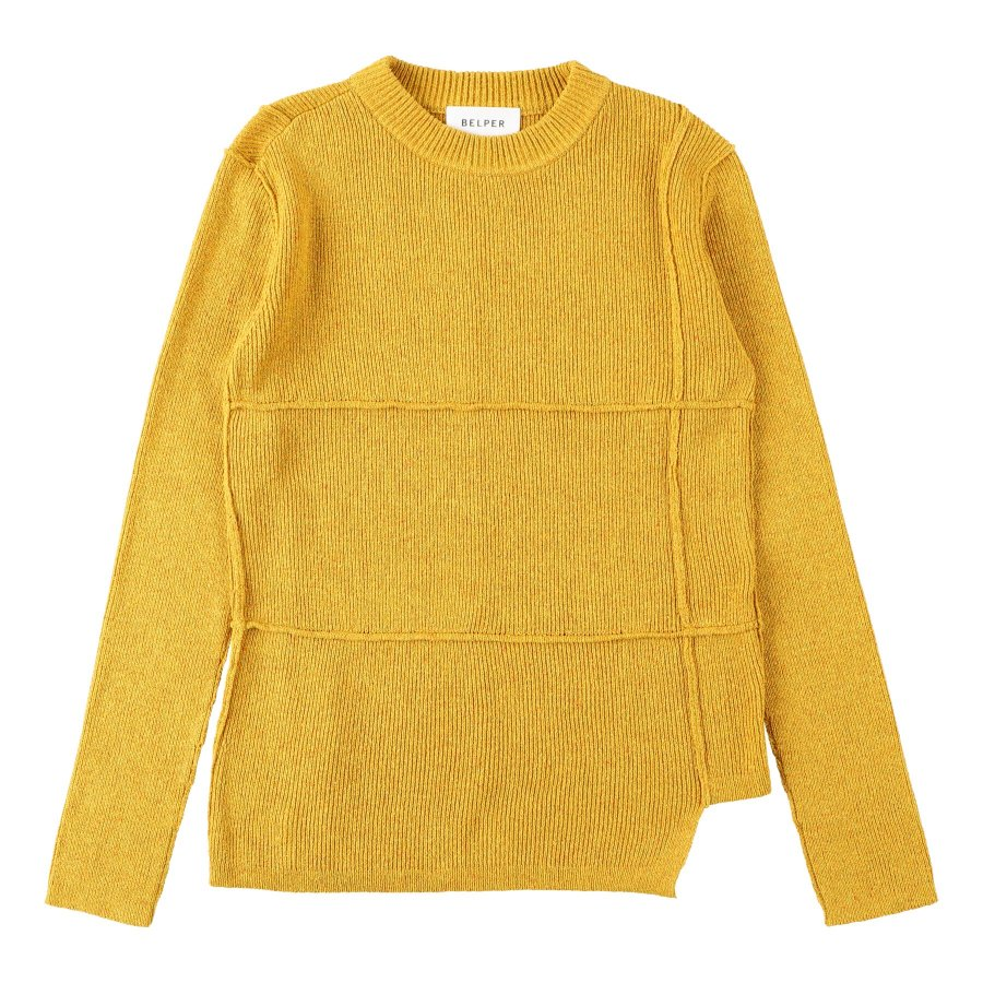 【21AW先行予約】BELPER  KNIT TOP(YELLOW)※7月入荷予定予約品(4月23日 23:59 締め切り)<img class='new_mark_img2' src='https://img.shop-pro.jp/img/new/icons15.gif' style='border:none;display:inline;margin:0px;padding:0px;width:auto;' />
