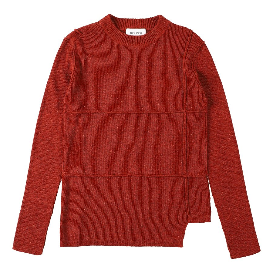 【21AW先行予約】BELPER  KNIT TOP(BRICK RED)※7月入荷予定予約品(4月23日 23:59 締め切り)<img class='new_mark_img2' src='https://img.shop-pro.jp/img/new/icons15.gif' style='border:none;display:inline;margin:0px;padding:0px;width:auto;' />