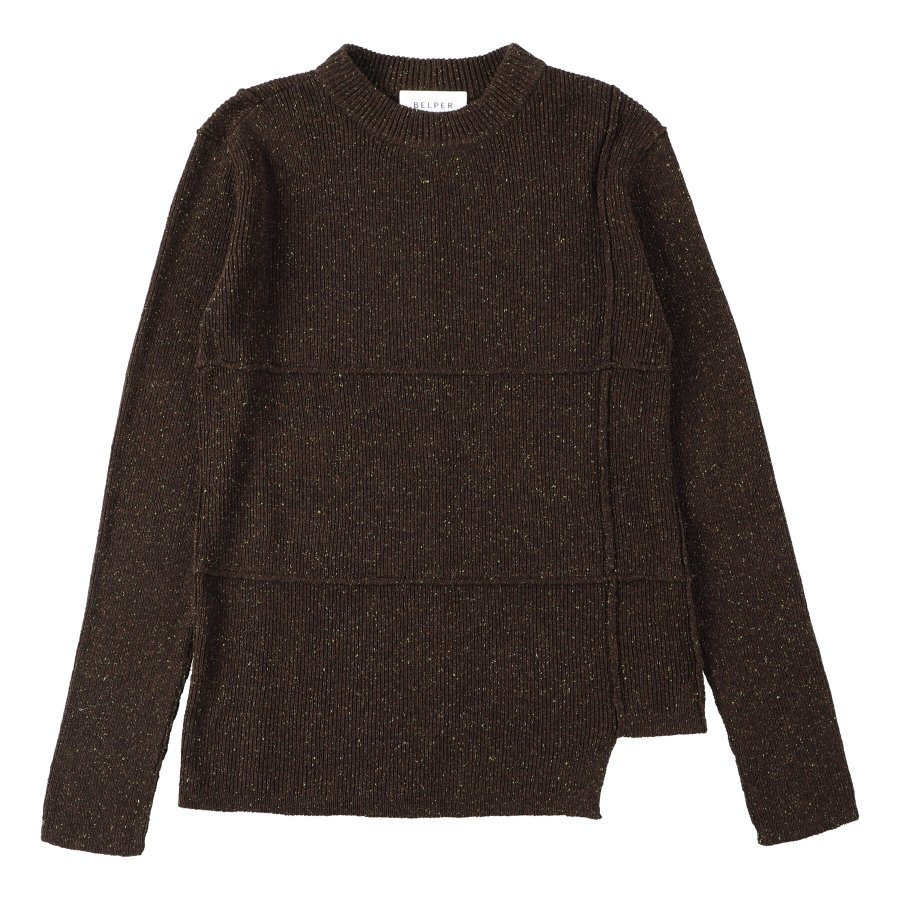 【21AW先行予約】BELPER  KNIT TOP(BROWN)※7月入荷予定予約品(4月23日 23:59 締め切り)<img class='new_mark_img2' src='https://img.shop-pro.jp/img/new/icons15.gif' style='border:none;display:inline;margin:0px;padding:0px;width:auto;' />