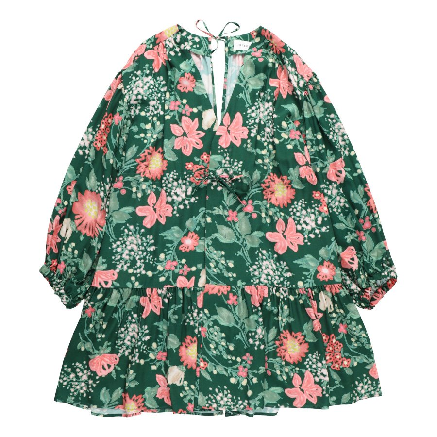 【21AW先行予約】BELPER  GATHERED BLOUSE(GREEN)※8月入荷予定予約品(4月23日 23:59 締め切り)<img class='new_mark_img2' src='https://img.shop-pro.jp/img/new/icons15.gif' style='border:none;display:inline;margin:0px;padding:0px;width:auto;' />