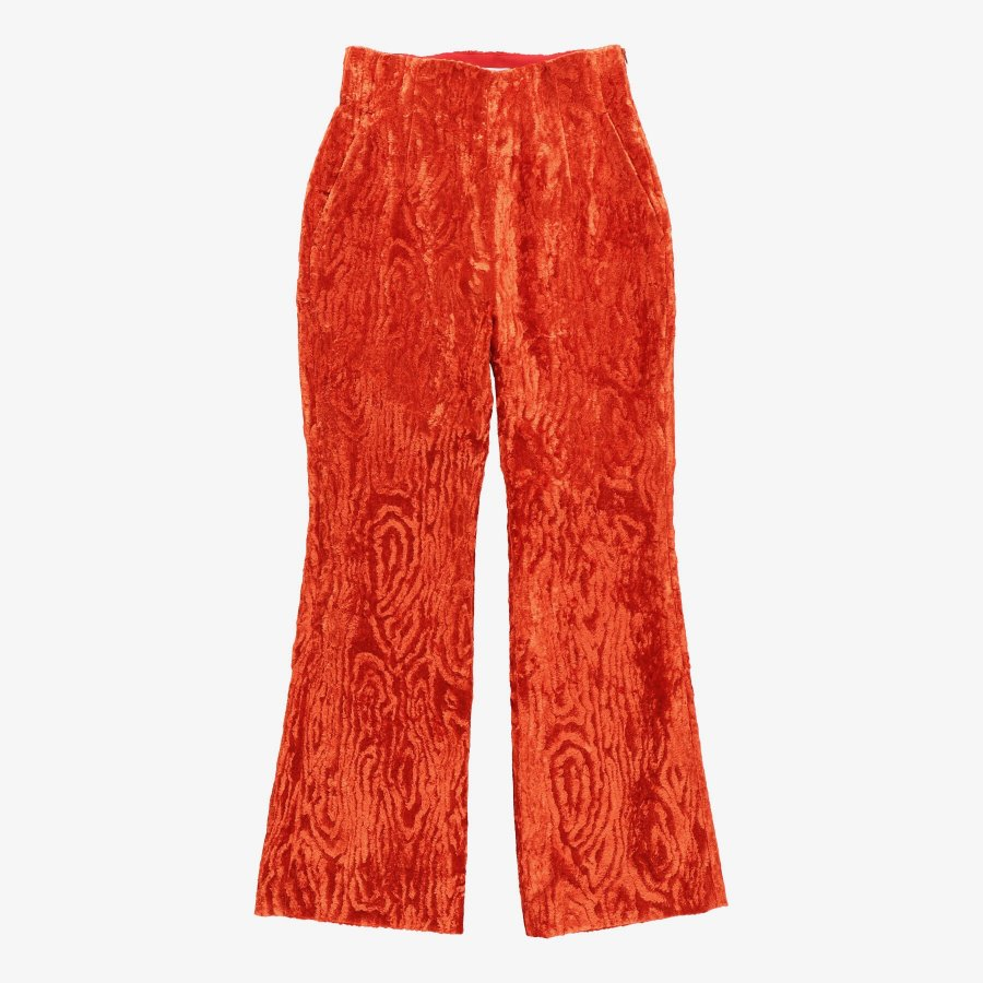 【21AW先行予約】BELPER  VELVET PANTS(RED)※9月入荷予定予約品(4月23日 23:59 締め切り)<img class='new_mark_img2' src='https://img.shop-pro.jp/img/new/icons15.gif' style='border:none;display:inline;margin:0px;padding:0px;width:auto;' />