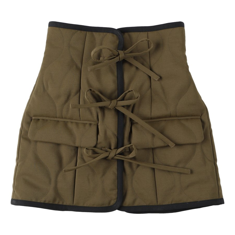 【21AW先行予約】BELPER  QUILTING BUSTIER(KHAKI)※9月入荷予定予約品(4月23日 23:59 締め切り)<img class='new_mark_img2' src='https://img.shop-pro.jp/img/new/icons15.gif' style='border:none;display:inline;margin:0px;padding:0px;width:auto;' />
