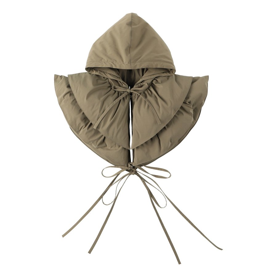 【21AW先行予約】BELPER  ATTACHED DOWN HOOD(KHAKI)※9月入荷予定予約品(4月23日 23:59 締め切り)<img class='new_mark_img2' src='https://img.shop-pro.jp/img/new/icons15.gif' style='border:none;display:inline;margin:0px;padding:0px;width:auto;' />